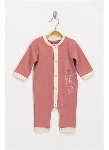 U.S. Polo Assn. Lisanslı Pembe Bebek Tulum Pembe